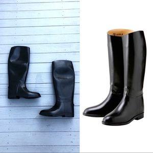 Aigle Ecuyer black rubber riding rain boots 39/8US